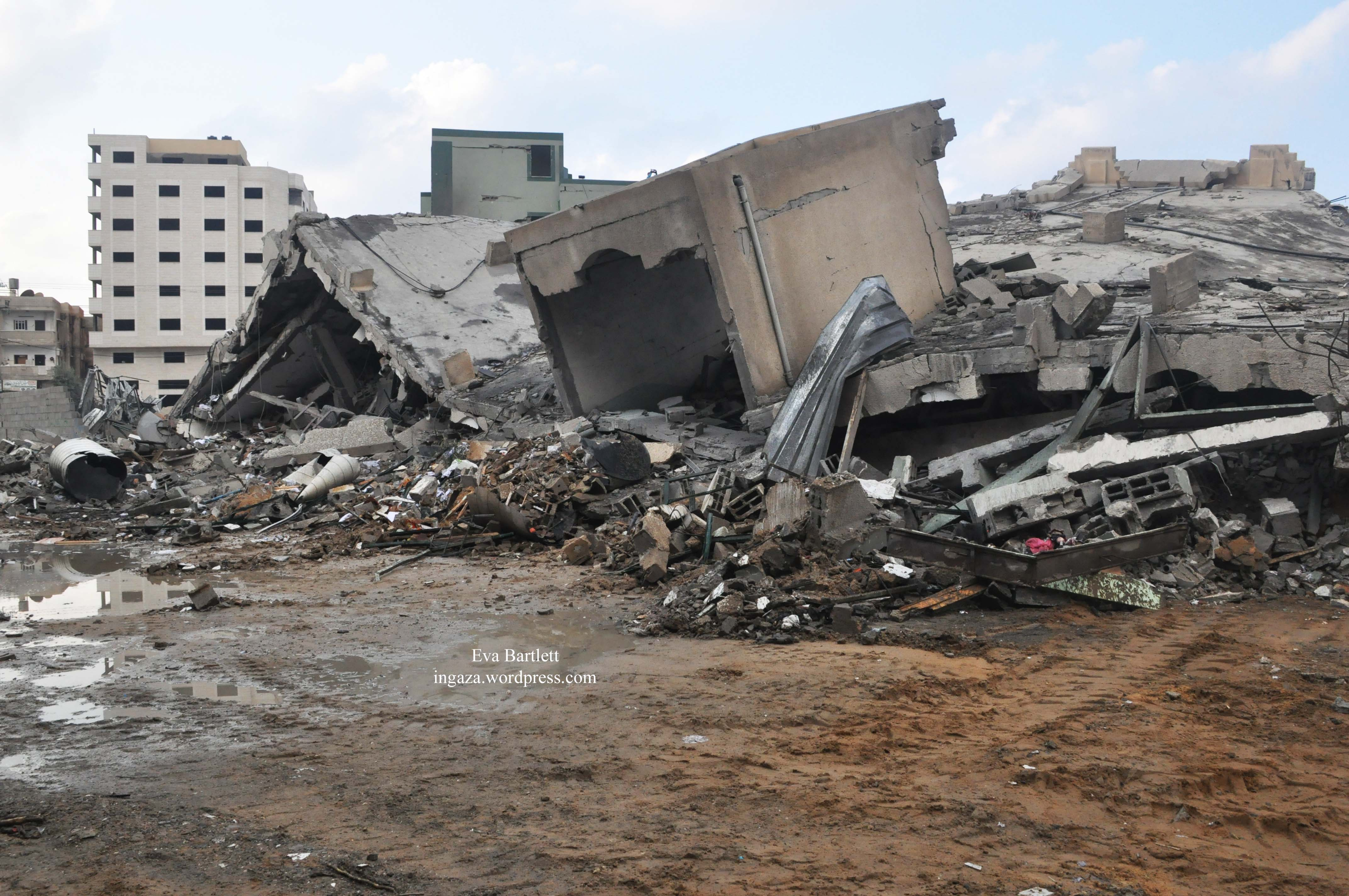 After The Zionist Bombing Stopped Again In Gaza