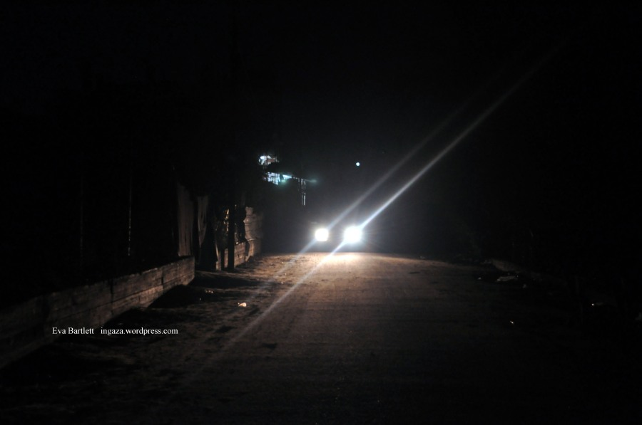 Light of the small shop to which Nader was headed when murdered by the Israeli bombing.