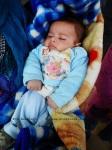 newborn, Fayda refugee camp, Bekaa valley, Lebanon