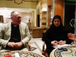Anglican minister, Andrew Ashdown and Tunisian media/journo Kawthar.