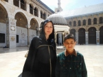 young friend at Umayyad mosque, Damascus
