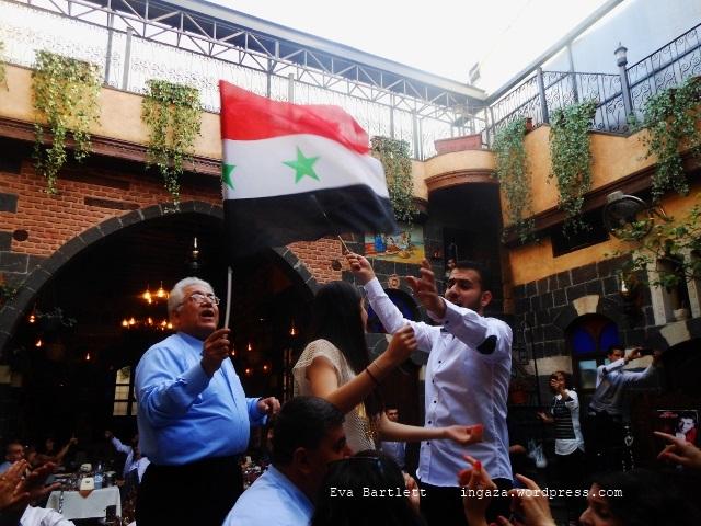 Christians in Damascus celebrating Easter, Syria, President Assad.