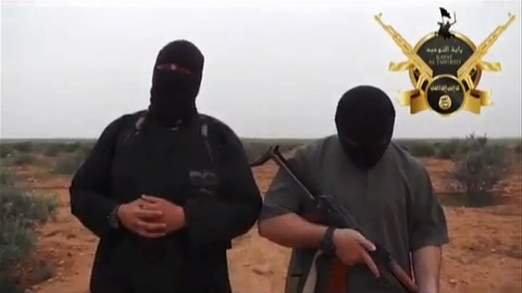 Researchers say one of the executioners is a Briton seen in other videos