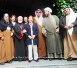 Members of the international Peace Pilgrimage delegation