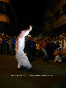 A tribal leader in Homs, and other residents, party for another night, the 6th since the June 3 elections.
