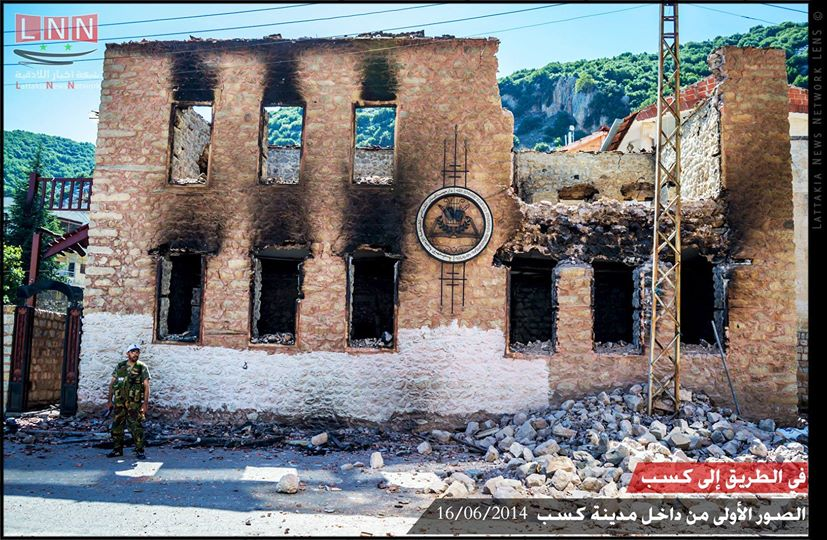 Much of Kassab was torched by the foreigners who terrorized the city for nearly 3 months. Photo: Latakia News Network