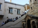 displaced Kasab residents shelter in Armenian church
