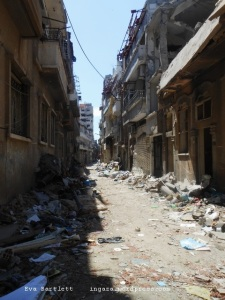 Street in the Old City of Homs.