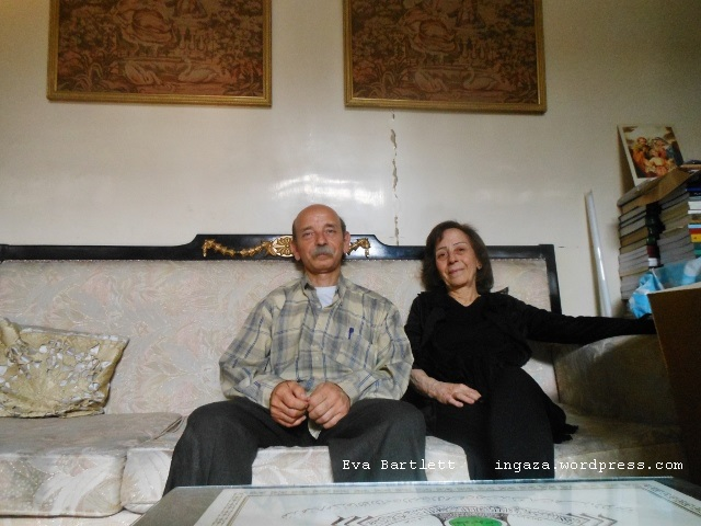 Aymen and Zeinat al-Akhras in their Old City home in Homs.