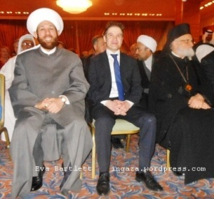 Syria's Grand Mufti, Dr. Ahmad Badreddin, meeting with our international peace delegation in April 2014.