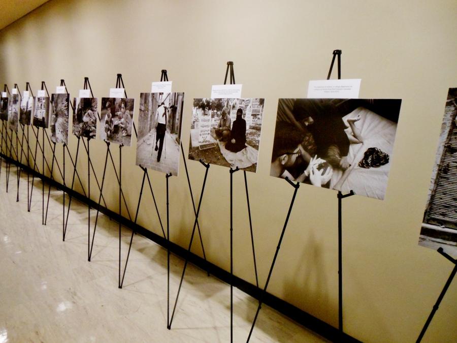 "Hagop Vanesian's exhibition, ""My Homeland,"" ran at the United Nations Headquarters from January 8-16."