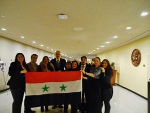 meeting Dr. Bashar al-Ja'afari, Syrian Amb to UN