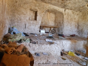 Cave where terrorists holed up.