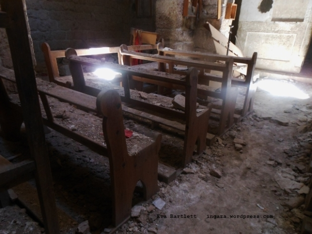 Nusra & co-mortared and looted church in the 4th century A.D. Monastery of Sts. Sergius et Bacchus