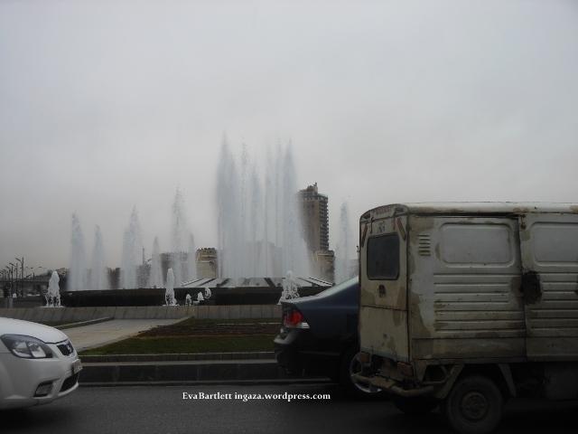 Damascus' landmark fountain.