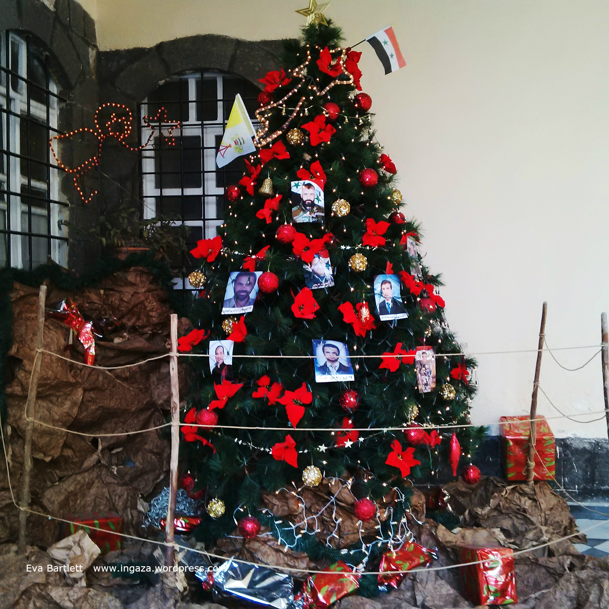 martyrs tree paying respect to martyred soldiers from the east gate neighbourhood of damascus - When Is Christmas Celebrated