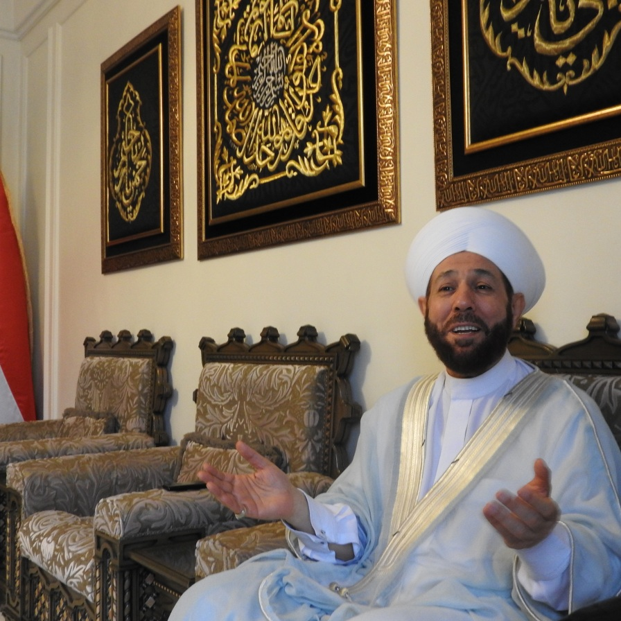 Grand Mufti of Syria, Dr. Ahmad Badr Al-Din Hassoun. See my: https://ingaza.wordpress.com/2015/03/19/the-real-syrian-moderates-voices-of-reason/
