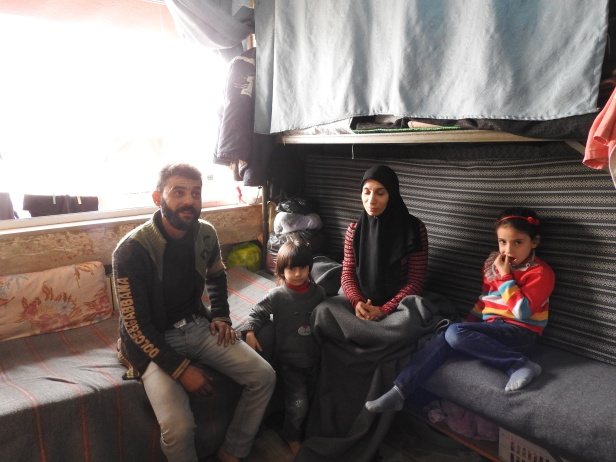 Family from Sukkari, Aleppo's east, housed in Aleppo University residences, which by November 2016 had been housing well over 10,000 internally displaced Syrians from areas of Aleppo and its countryside for around 4 or more years. One of the residences was hit by a terrorist missile the week prior, killing four from one family. From: https://ingaza.wordpress.com/2016/11/24/overview-of-latest-month-long-visit-to-syria-aleppo-and-damascus/