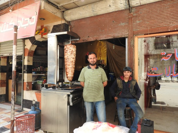 In liberated Kafr Batna, where life is returning to normal.