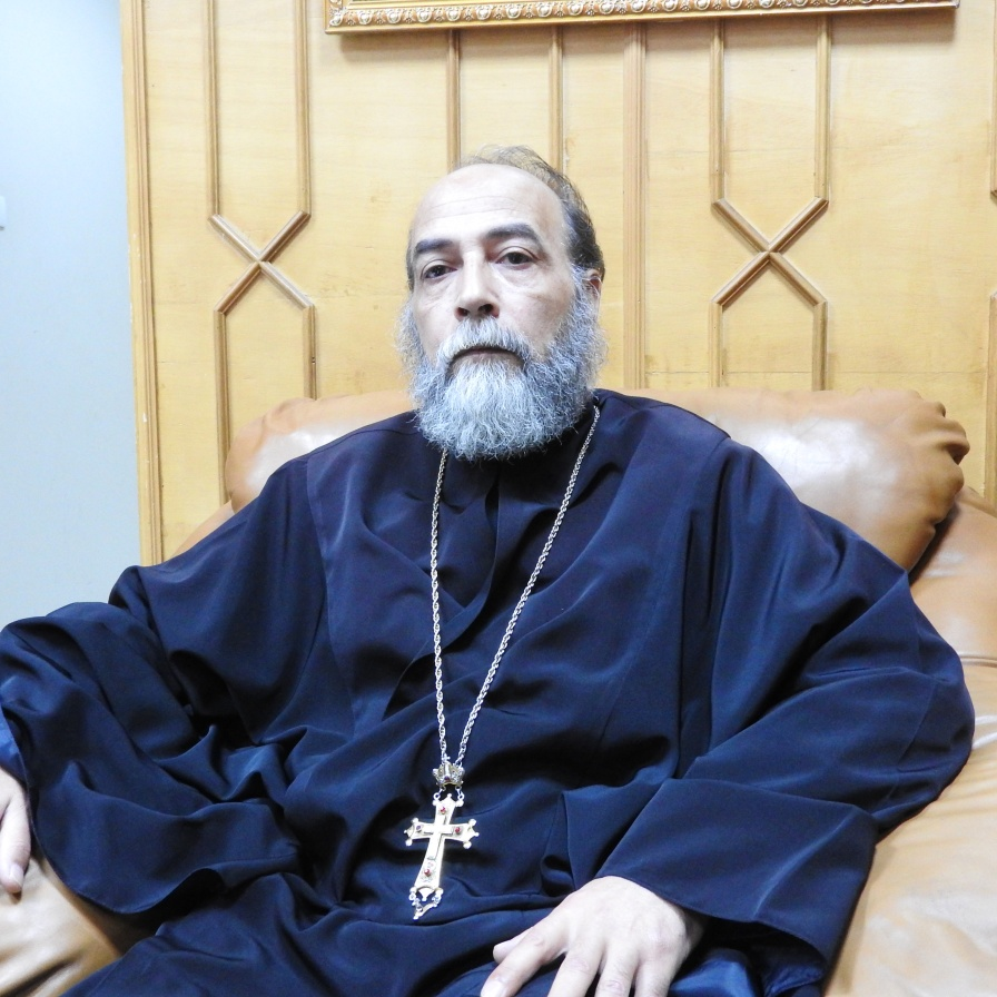 Father Georgis Rizk, who refused to be bought or bullied by terrorists who tried to get him to stand against Syria. May 2018. Some of my posts from Dara'a: https://www.facebook.com/EvaBoBeeva/posts/1925005744176077 https://www.facebook.com/EvaBoBeeva/posts/1925893510753967 https://www.facebook.com/EvaBoBeeva/posts/1925960184080633