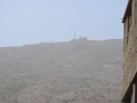 One of two Israeli observation posts overlooking the village and region