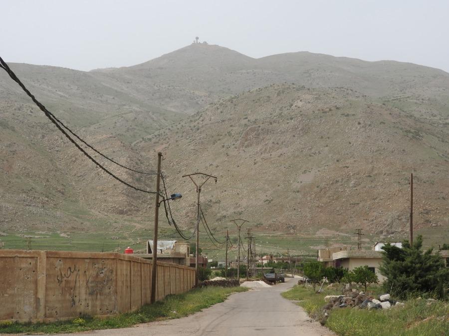 Road of Nov 2017 suicide car bomb Israeli observation post above