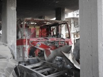 stolen firetruck White Helmets centre Saqba