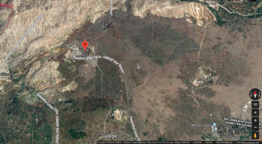 The southwestern Syrian village of Hadar is next to the 1974 ceasefire line
