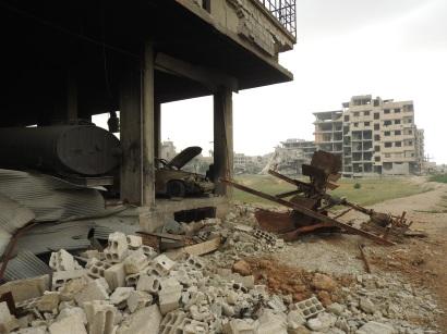White Helmets centre Saqba