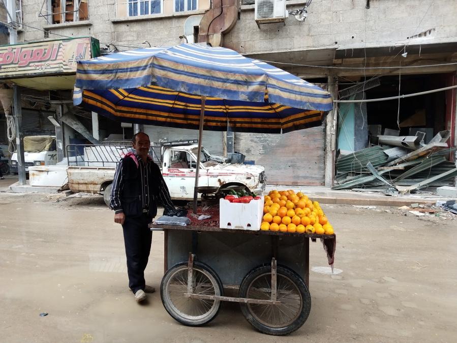 Yahya Mohammed Hamo in Douma said terrorists starved them