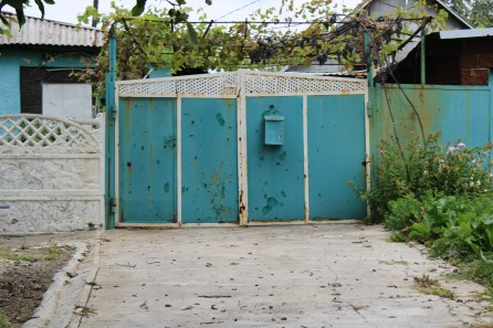 Krutaya Balka homes damaged by Ukrainian shelling and heavy machine gun fire 2