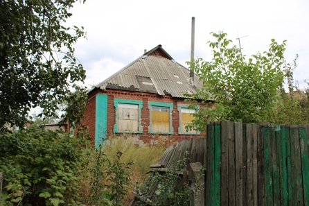 Krutaya Balka homes damaged by Ukrainian shelling and heavy machine gun fire