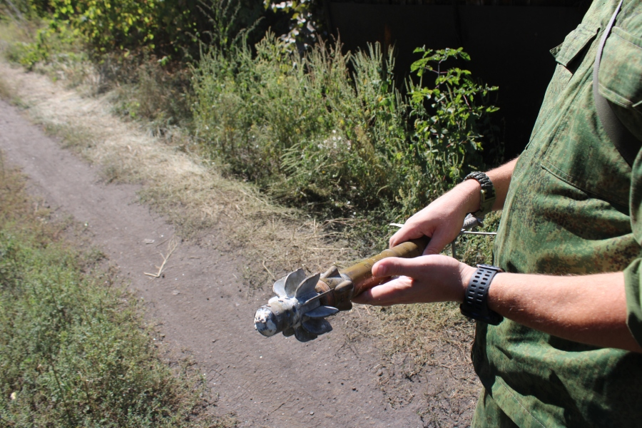 Mortar shell connected to RPG engine, Ukraine's way of violating the ceasefire agreement without notice