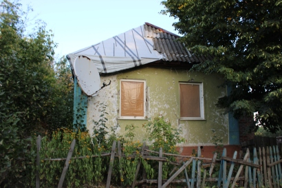 Zaitsevo home damaged by Ukrainian shelling 2