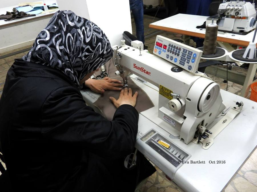 Sewing training at Barzeh community centre